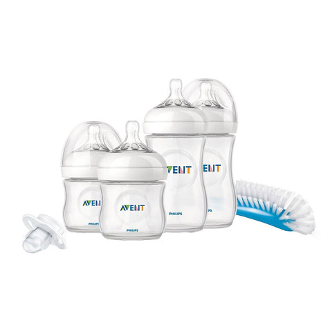 Feeding Bottle Starter Set Newborn - Natural