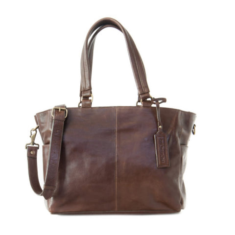 Little Jack Leather Nappy Bag - Coconut