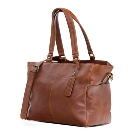 Little Jack Leather Nappy Bag - Toffee Tan