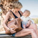 Little Jack Leather Nappy Bag - Waxy Tan