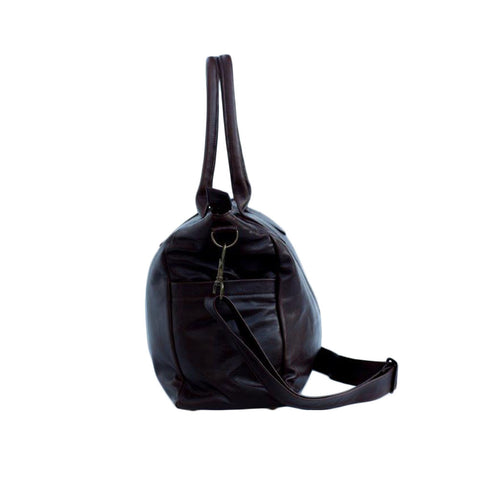 Leather Baby Bag - Black