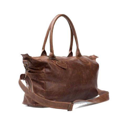 Leather Baby Bag - Brown