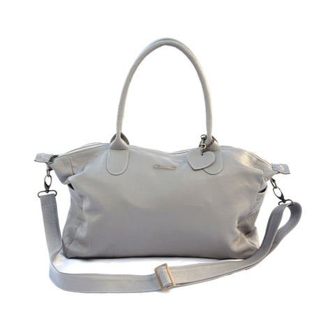 Leather Baby Bag - Grey