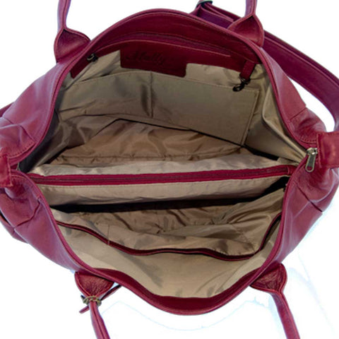 Leather Baby Bag - Ruby Red