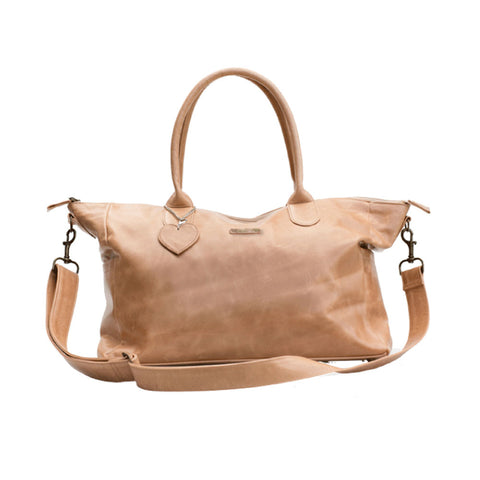 Leather Baby Bag - Tan