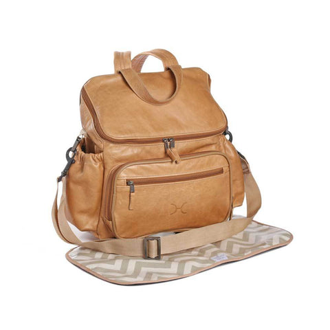 Nappy Backpack - Leather - Hazelnut