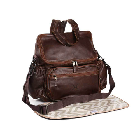 Nappy Backpack - Leather - Tobacco