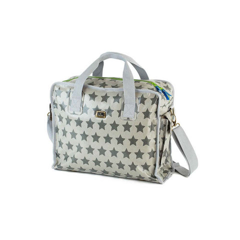 Fun & Funky Nappy Bag - Silver Star