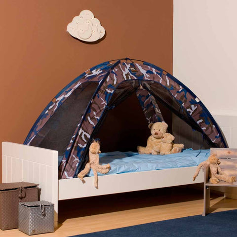 Single Bed Tent & Mosquito Net - Blue Camo