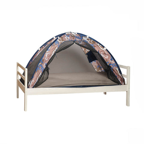 Single Bed Tent & Mosquito Net - Blue Camouflage (203x93x110cm)