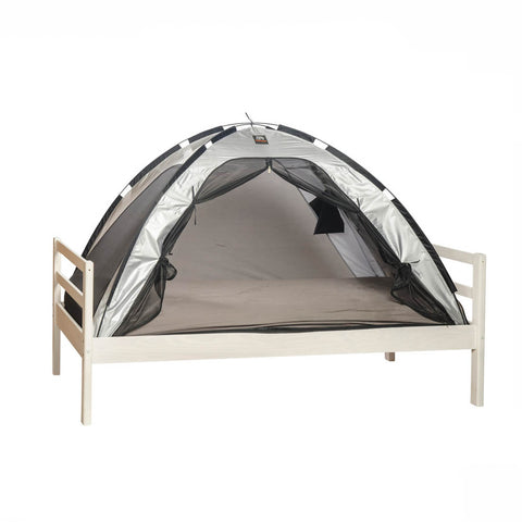 Single Bed Tent & Mosquito Net - Silver (203x93x110cm)