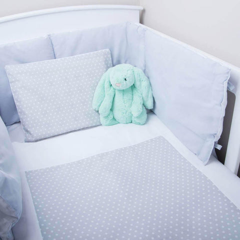 Cot Set Grey Dot