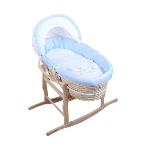 Moses Basket - Blue Bear