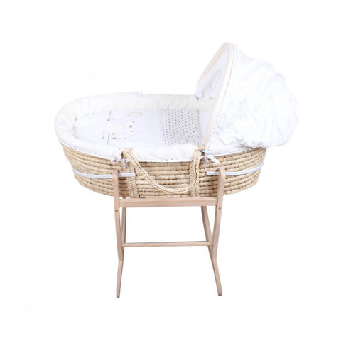 Moses Basket - Neutral Bear