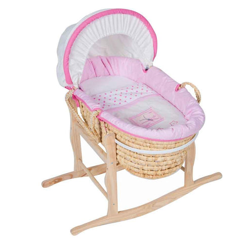 Moses Basket - Pink Butterfly