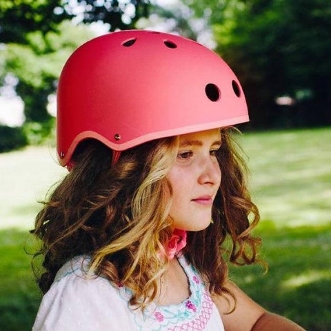 Scooter Helmet - Coral Matt