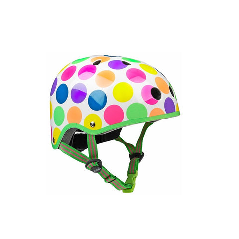 Scooter Helmet - Neon Dots