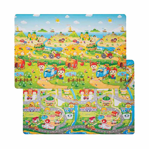 Double-Sided Play Mat - Small - Fruit Farm