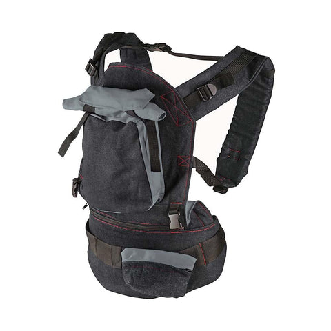Deluxe Baby Carrier - Black Denim & Grey