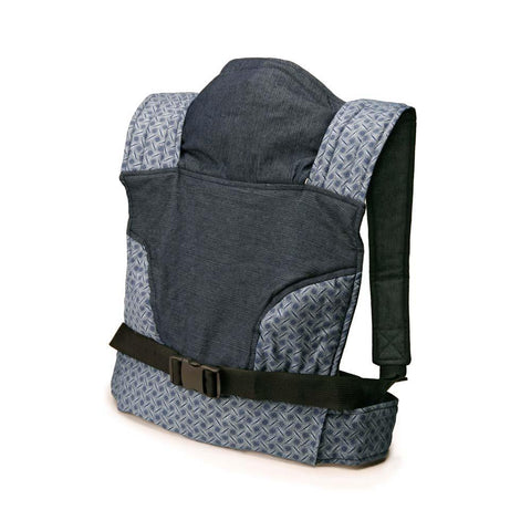 Newborn Baby Carrier - Blue Denim & Shweshwe