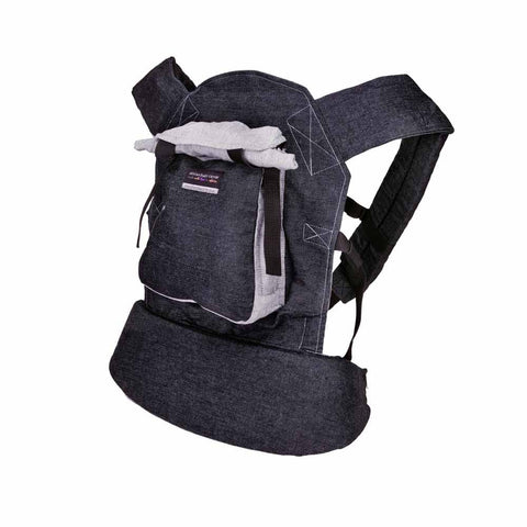 Original Baby Carrier - Black Denim & Grey
