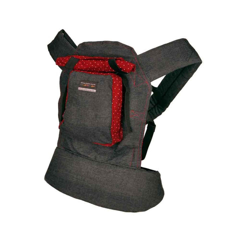 Original Baby Carrier - Black Denim & Red