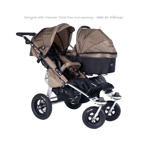 Quick Fix Twinner Singe Carrycot - Mud