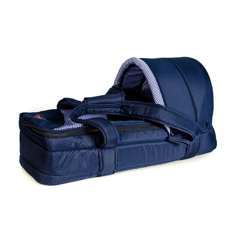 Bubble Soft Carry Cot -  Blue Check