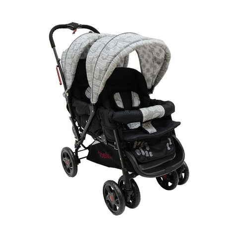 Twin Stroller H802 - Black Leaf