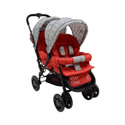 Twin Stroller H802 - Red Leaf