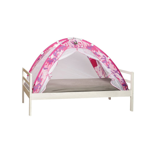 Cot & Toddler Bed Tent & Mosquito Net - Pink Camouflage (153x73x95cm)