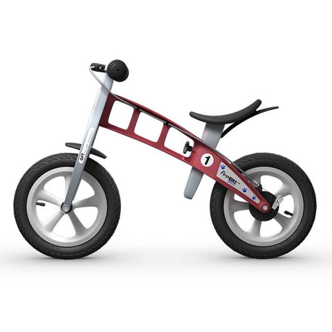 Street Balance Bike with Brake - Red
