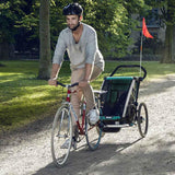 Chariot Lite Twin Bike Trailer - Bluegrass