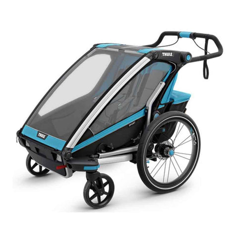 Chariot Sport Twin Bike Trailer - Blue