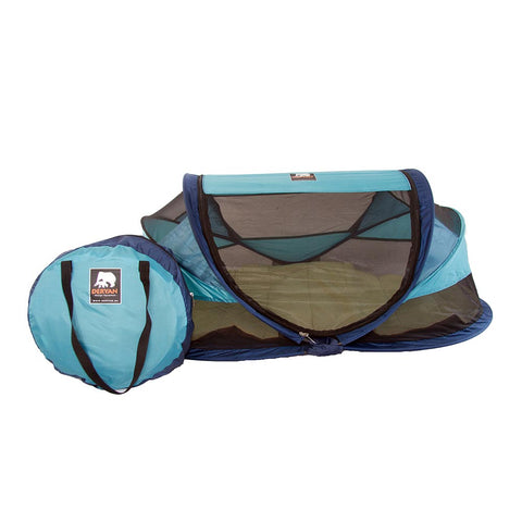 Travel Cot Baby Luxe - Ocean Green