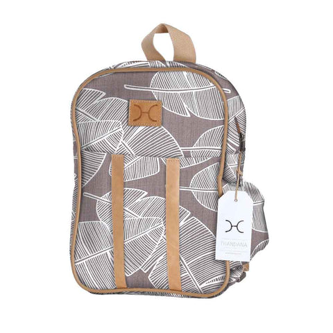 Kids Backpack - Shelly Beach - White on Silver