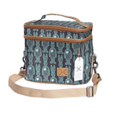 Double Decker Cooler Bag - Wire Rabbit - Aqua on White
