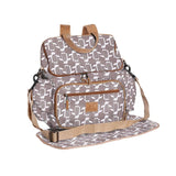 Nappy Backpack - Penguin - White on Silver