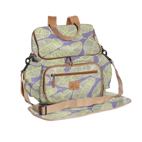 Nappy Backpack - Shelly Beach -  Butter on Silver