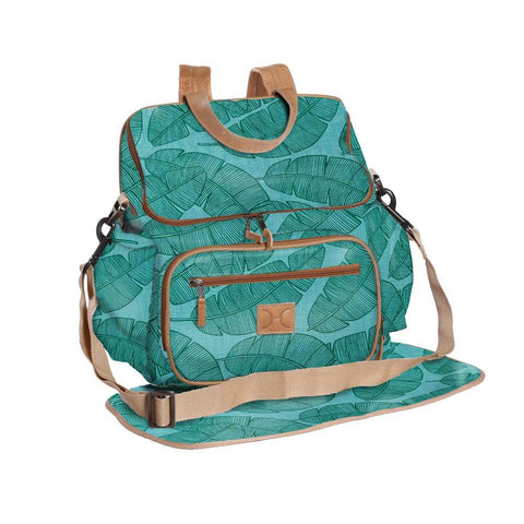 Nappy Backpack - Shelly Beach -  Emerald on Aqua