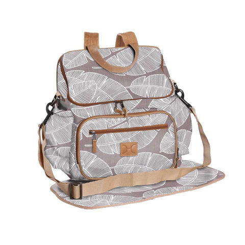 Nappy Backpack - Shelly Beach -  White on Silver