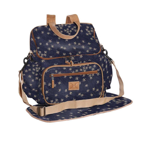 Nappy Backpack - Spice - Gold on Navy