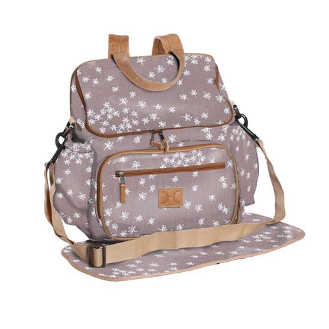 Nappy Backpack - Spice - White on Silver