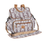 Nappy Backpack - Wire Rabbit - White on Silver