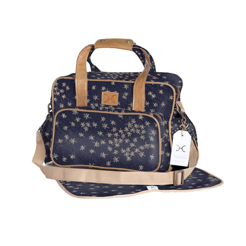 Nappy Bag - Spice - Gold on Navy
