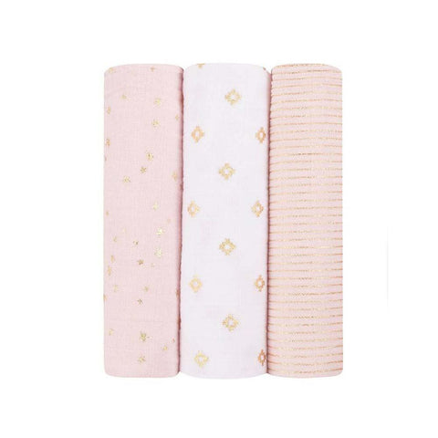 Metallic Swaddle 3 Pack - Primrose