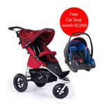 Joggster Twist Travel System - Cranberry (Free STM Infant Seat)