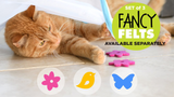 (On Sale!) (And 20% off at checkout till 11/30) Fancy Felt Toys 3 (butterfly, bird and flower)
