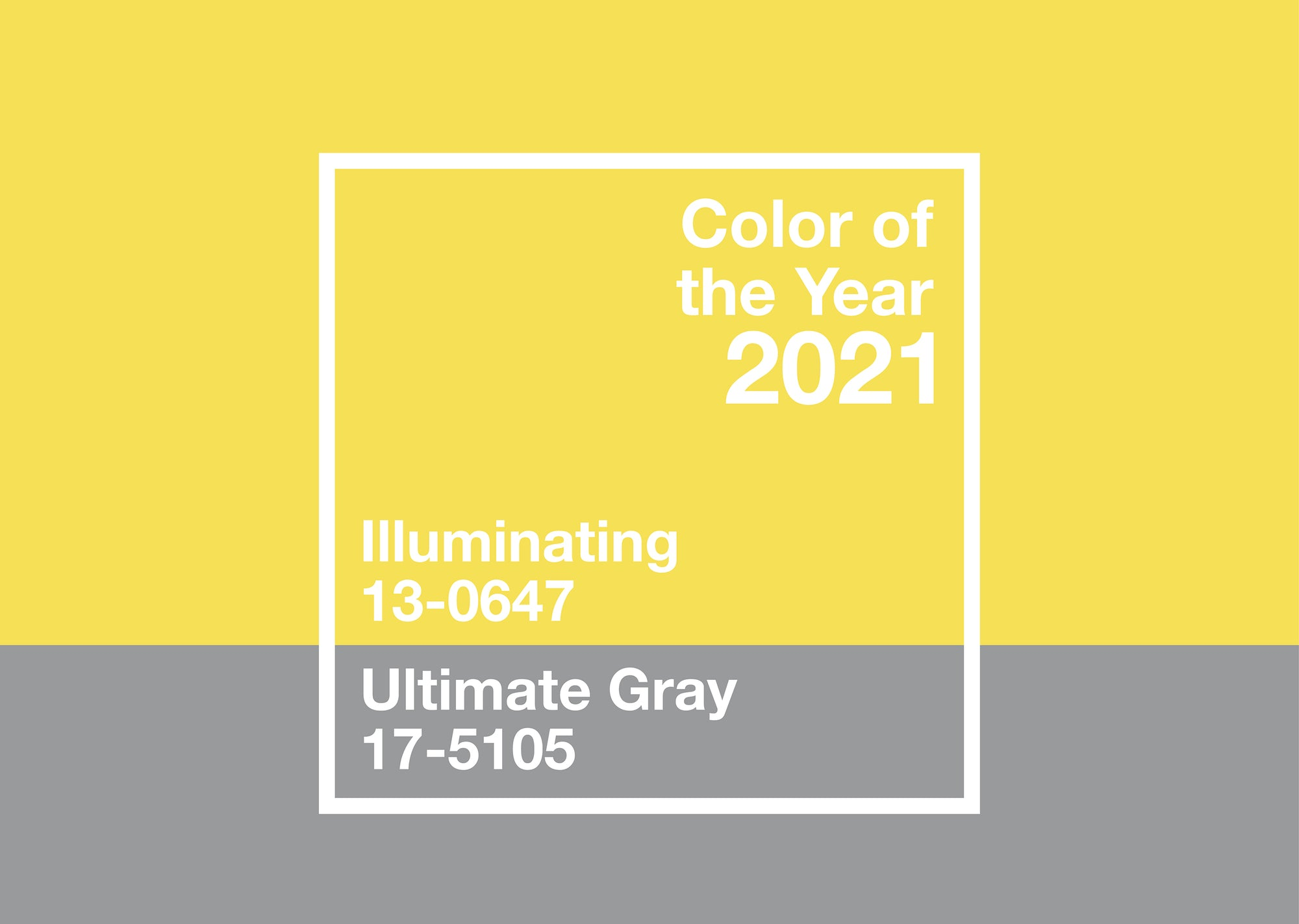 Pantone 2021 Colours of the Year