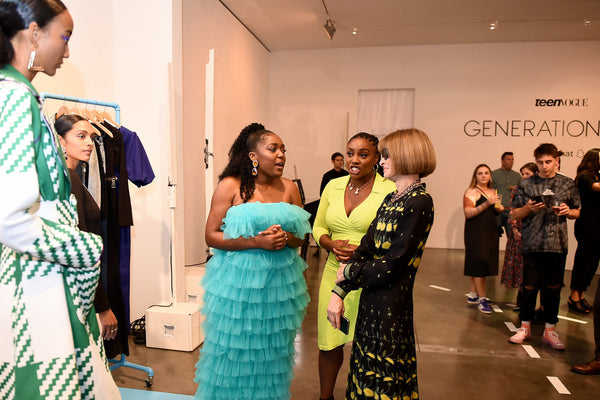 Anifa Mvuemba with Anna Wintour